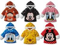 2014 new baby clothing/Boys&girls pullover hoodies/Kids fleece cartoon mickey Donald Winnie sweartshirt