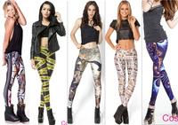 2014 New Leggings Women Prints Casual Legging Pencil Pants Fashion Fitness Leggins Cartoon Poker Trousers Wholesale 10/pcs 497-2
