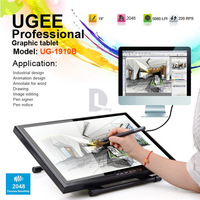 "Free DHL UGEE UG-1910B Professional 19"" LCD Art Graphic Tablet Drawing Digital Tablet Board USB Pen Drawing Pad grafico P0016331"