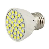 PVC Umbrella Style E27 30 LEDs 5050 SMD White 6000K 85V-265V 110V 220V Led Spotlight