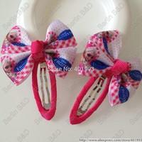 50pcs/lot Sophie hair bow,2'' FROZEN hair bow clips,6 colors Frozen hair accessories,Princess ELSA hair bow clips 9083