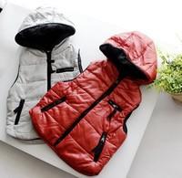 Spring Fall Kids Waistcoat Korean Cartoon Grid Toddler Baby Vest Coat Hoodies Thicken Good Quality Children Jackets  WD205