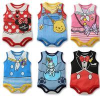 2014 New Cute Baby Boy/Girl Cartoon Minnie/Mickey romper/Summer unisex jumpsuit/Infant one-piece bodysuit