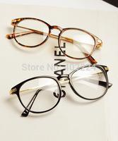Free shipping new semi-circular metal retro glasses frame plain mirror fashion male and female models frames