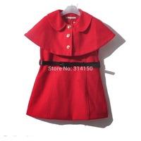 5pcs/lot Bilibaya 2014 girls dress Sleeveless dress+Cape coat England style two-piece spring/autumn dress clothing free shipping
