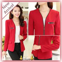 casacos femininos 2014 New Design Jackets women coat long-sleeve short jacket zipper jackets female blazer woman cardigans