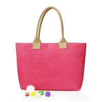 2014 New Fashion Free Shipping Simple retro  large capacity Multi-Color Woven bag ladies handbag high quality Shoulder Bag HB009