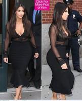 2014 New arrival women bandage dress midi  bodycon sretch dress sexty party long sleeve autumn and winter dress