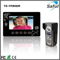 Sale!  luxurious 7'' TFT LCD Touch Key 2 electronic lock Video Door Phone Intercom Wired Video Doorphone