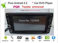 100% Pure Android 4.2 Car GPS DVD For Toyota  RAV4 Corolla  Vios Hilux Terios Land Cruiser Avanza Fortuner Prado with wifi Radio