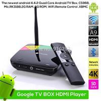 CS968 Quad Core RK3188 2G/8G HDMI Smart  Andriod TV BOX Bluetooth/Mic/2MP Camera/Wifi/XBMC/Remote Control
