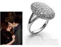 Top quality Twilight Bella alloy diamond ring 50pcs