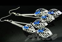 925 Silver Earrings Jewelry Fashion Earrings Fashion Jewelry Crystal Earrings Leaf MDE116