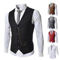 Sleeveless Jacket For Men New 2014 Autumn Winter Vest Colete Masculino Couro Famous Brand Coletes De Homem Man Vest Coats Winter