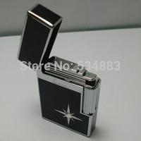 100% New high quality Classic diamond windproof gas metal lighter cigarette cigar lighter for men