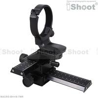 4-way Macro Focusing Rail Slider + Lens Tripod Mount Ring case for Canon EF 100/2.8 L IS USM Macro