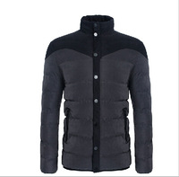 2014 Men's Winter Coat Padded Jacket Autumn Winter Out wear Men's Casual Coat New Arrival Thick England Style Men's Coat