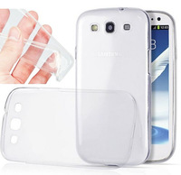Case For galaxy samsung S3 I9300 0.3mm Ultra Thin Crystal Clear Soft Silicone TPU Case Cover EC336