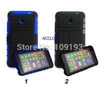 Black& blue Silicone PC Plastic Stand robot Armor Hybrid Case Cover for nokia lumia 630 n630 case for  nokia 630 lumia 630 n630