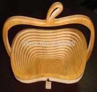 Free shipping 5pcs/lot fruit bamboo folding basket home storage wholesale