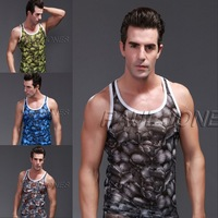 Flower Print Men's Tanks Breathable Underwear Tank Top A-Shirt Underwear Men Brand CL6430