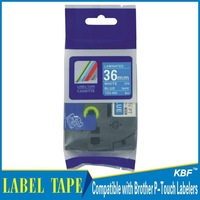 Cheap China 36mm white on blue tz label tape tz-565