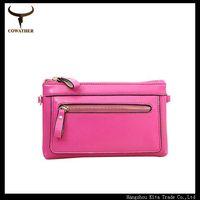 Free shipping Candy color genuine leather wallet women long wallet carteiras summer fashion mini bag solid women clutch MU02