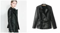 Free shipping 2014 za* Freshness and Sweet oversize Euramerican style jacket Flower  printed  coat sweater Winter