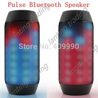 30 pcs 2014 Lastest Music PULSE Portable Wireless Bluetooth Mini Speaker Support NFC Colorful LED lights