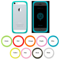 for iPhone 6 iphone6 4.7 inch iphone 5 Luminous Silicon Ring Bumper Frame Case Cover Side protection Cases 100pcs/lot