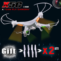 Have 3 sets of blades RC Helicopter SYMA x5c 6 Axis GYRO Drone Quadcopter with 2MP HD Camera or Syma X5 without camera