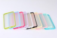 Wholesale Colors New TPU Frame PC Matte Clear Hard Case Cover For iphone 6 6G 4.7Inch  Drop shipping & Free shipping