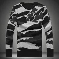 Autumn Camouflage sweater outerwear male plus size plus size o-neck sweater pullover sweater men's clothing XXXXXL 14091504