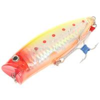 Lifelike Fish Style Fishing Bait with Hooks - Yellow Free shipping 104027