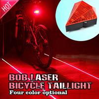 Bicycle Cycling Laser Tail Light (2 Laser + 8LED) Bike safety light / free shipping fafcl9(BOB-C003-5)