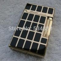 100% guarantee original Top quality gold metal windproof flame gas lighter cigarette cigar lighter for smoking