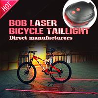 Bicycle Laser Tail Light Mountain Bike Water Resistant 2 Laser 7 Modes Safety warning Back Rear MJU698(BOB-C005-10)