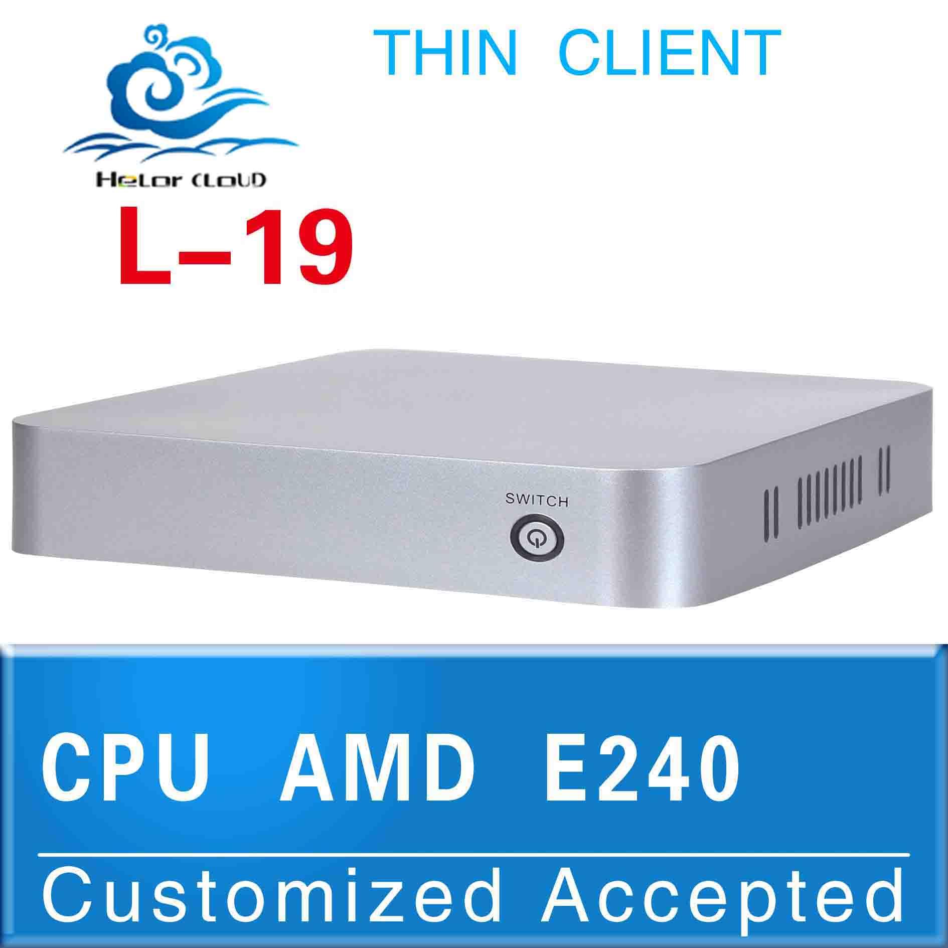 the cheapest powerful mini computer l-19 mini business pc AMD E240 1.5ghz fan desktop ATI HD6310 graphics 512M thin client(China (Mainland))