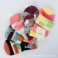 2014 Izmir 200N Turn-Over-Rib-Top Lovely&Soft Women Cotton Socks 5 pairs/lot