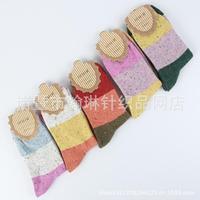 2014 Izmir Winter&Autumn Thickened Wool Cute Women Socks Keep Warm&Soft 5 pairs/lot