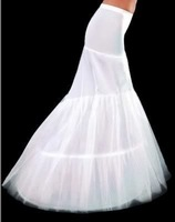 GOOD price and quality mermaid petticoat 2 hoops white wedding dress crinoline