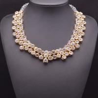 2014 New Kate Middleton necklace necklaces & pendants fashion luxury choker design crystal pendant necklace statement jewelry Z1