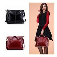 NEW 2014 genuine leather bags women leather handbags messenger bag shoulder Bags for women Vintage Ladies Bags Handbag 1206