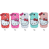 New Style Fashion 3D Cartoon kitty soft Silicone cover cute bowknot cat lovely phone case for Samsung galaxy S4 i9500