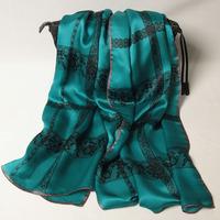 102130 2014 Newest Women's brand Georgette Satin scarf, 100% Silk scarves, rectangle silk scarf, Free Shipping,  Muslim Hijab