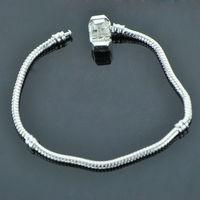 European DIY punk Bangle 2014 new fashion 925 Silver Bracelet snake Chain for beads Charms women Jewelry PAC001