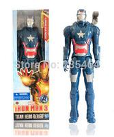 Free Shipping Iron Man Movie 30CM PVC Iron Man Action Figures Action Toy Figures Retail Box