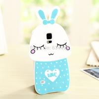 Cute Silicone Mushrooms Rabbit Back Cover for Samsung Galaxy S5 G900  Phone Case Capa Celular K20251