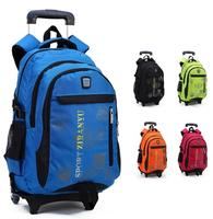 Rolling school backpacks girls and boys trolley bags school bag with wheels backpack schoolbag teenage girl backpacks  bookbag