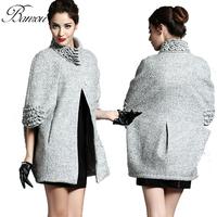 Poncho Women Winter Coat  Woolen Top Coats Cardigans Fleece Cape manteau Ladies Jackets abrigos mujer 2014 casaco feminino